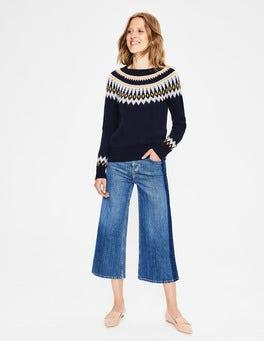 Navy Agnes Fair Isle Sweater