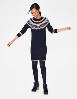 Navy Agnes Fair Isle Dress