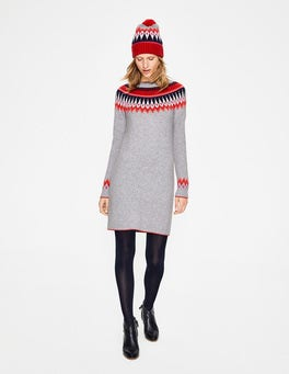 Silver Melange Agnes Fair Isle Dress