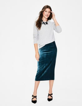 Lorna Velvet Pencil Skirt