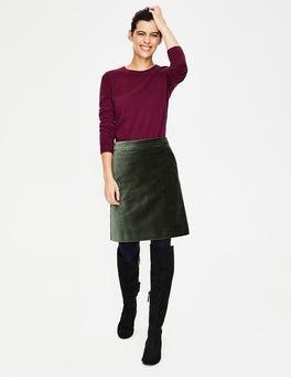 Pine Tree Mimi Velvet Skirt