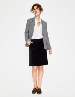 Navy Mimi Velvet Skirt