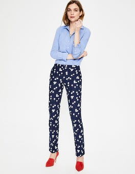 Navy, Blossom Richmond Trousers