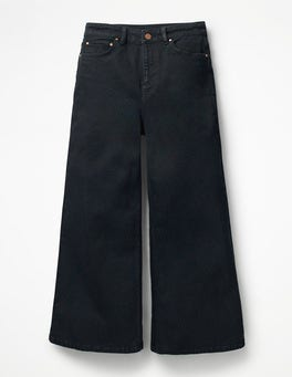 Black York Cropped Jeans