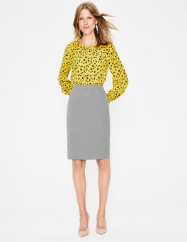 Black Canonbury Pencil Skirt