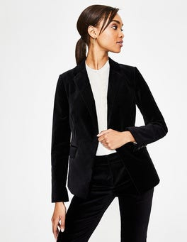 Noir Blazer long en velours