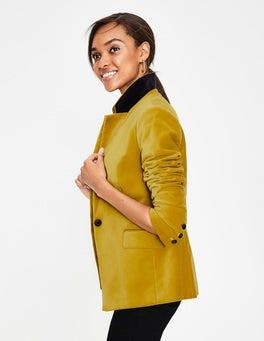 Hot Mustard Velvet Longline Blazer