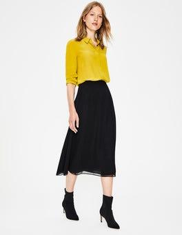 Black Serena Midi Skirt