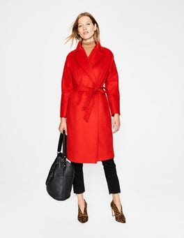 Post Box Red Lindfield Wrap Coat