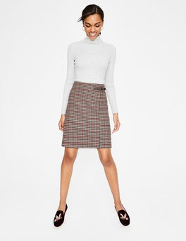 Fawn and Red Windowpane Faye Tweed Kilt