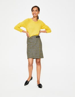 Hot Mustard Houndstooth Faye Tweed Kilt
