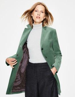 Aquamarine Blyford Velvet Coat