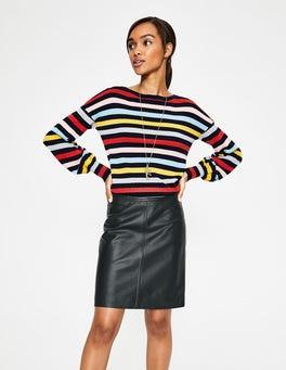 Black Morleigh Leather Mini Skirt