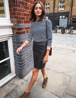 Morleigh Leather Mini Skirt