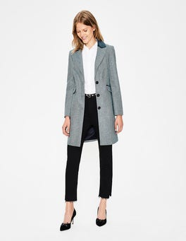 Blue Herringbone Eastbourne Coat