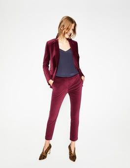 Mulled Wine Velvet Straight Leg Trousers