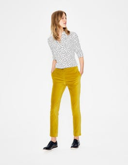 Hot Mustard Velvet Straight Leg Trousers