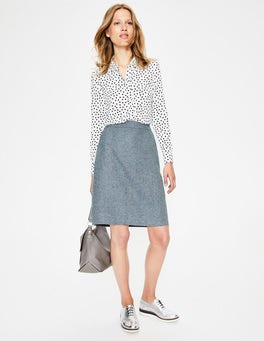 Blue Ribbon & Ivory  H.bone British Tweed Mini Skirt