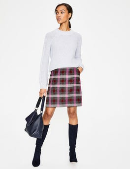 Mulled Wine and Pop Pansy British Tweed Mini Skirt
