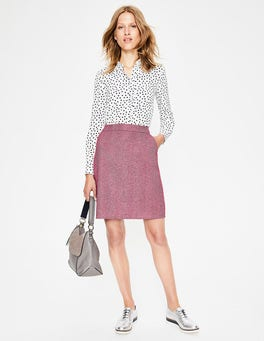 Amaranth & Grey British Tweed Mini Skirt