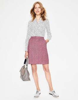 Amaranth & Grey British Tweed Mini Skirt