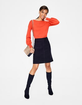 Navy Dorchester Skirt