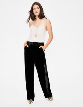 Black Selwood Velvet Pants
