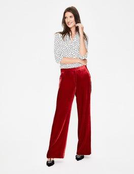 Poinsettia Selwood Velvet Trousers