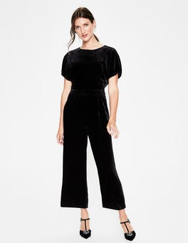 Black Aston Velvet Jumpsuit