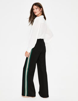 Black with Stripe Sherborne Side Stripe Pants
