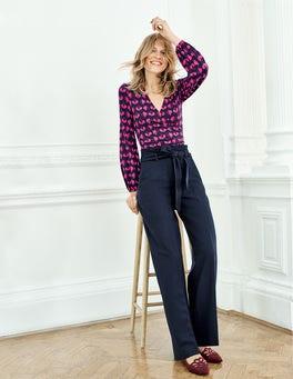 Pantalon taille froncée Rosemoor