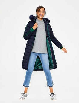 Navy Brecon Puffer Coat