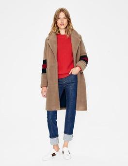 Soft Truffle with Stripe Hereford Coat