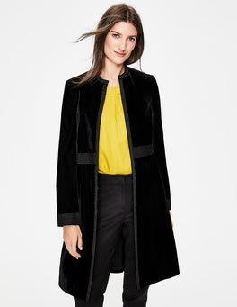 Black with Gold Bird Grosvenor Party Coat