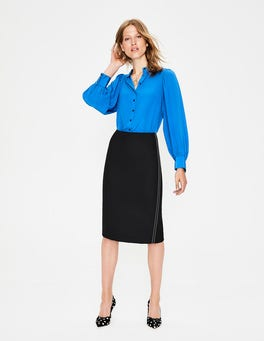 Black Winsford Pencil Skirt