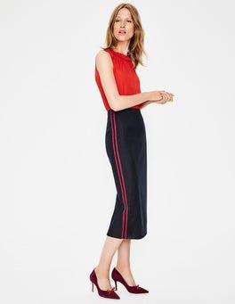 Navy Pinstripe Cresswell Pinstripe Skirt
