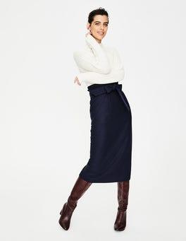 Navy Rosemoor Paperbag Skirt