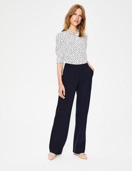 Navy Hampshire Ponte Trousers