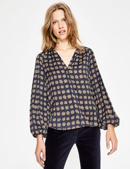 Navy, Pow Harriet Blouse