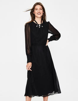 Black Alba Midi Dress