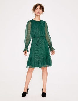 Amazon Green Petal Libby Dress