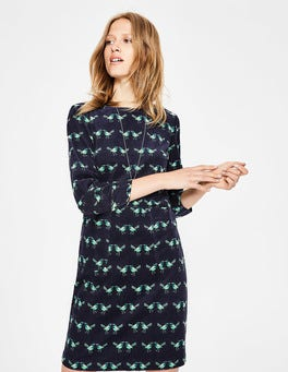 Navy Love Birds Amber Dress