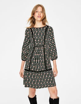 Black Flower Press Luna Dress