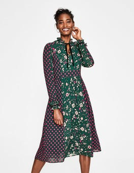 Chatsworth Green Bloom Cecilla Midi Dress