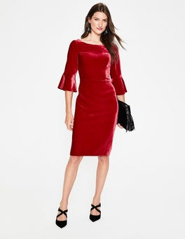 Poinsettia Aubrey Velvet Dress