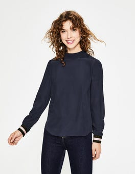 Navy Louise Top