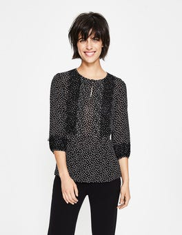 Black, Scattered Spot Cynthia Top