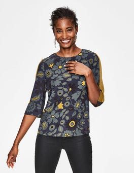 Navy and Trumpet, Bloom Leonora Top