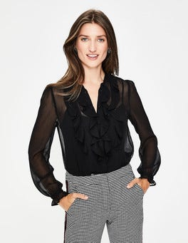 Black Amalie Blouse
