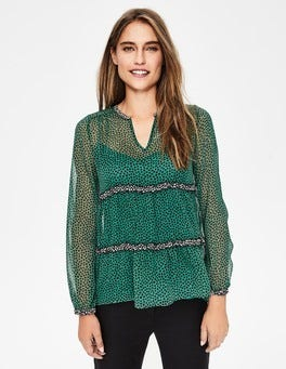 Amazon Green Petal Talise Top